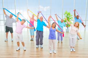 Seniors staying flexible