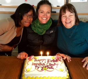 Ieesha, Tryshah, and Cindy at their birthday party last November